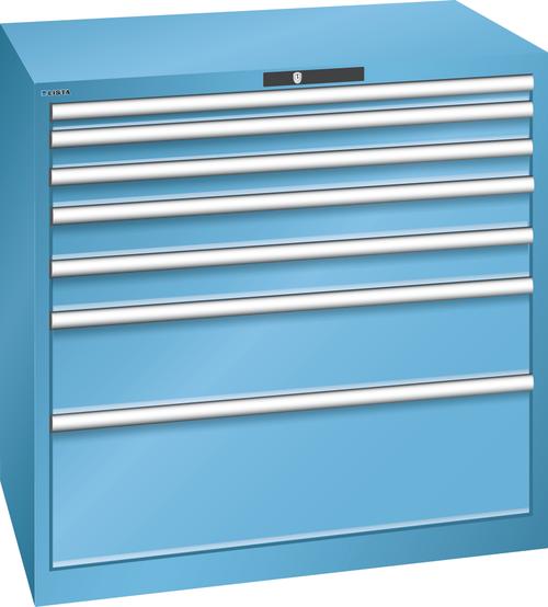 Drawer cabinet (WxDxH) 1023x725x1000mm 7 drawers (1x50*/2x75/2x100/1x200/1x300) *75/200kg