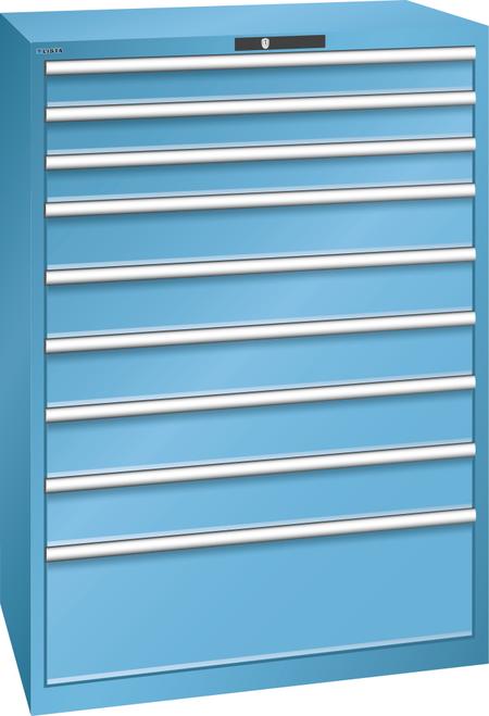 Drawer cabinet  (WxDxH) 1023x725x1450mm 9 drawers (3x100/5x150/1x300) 200kg