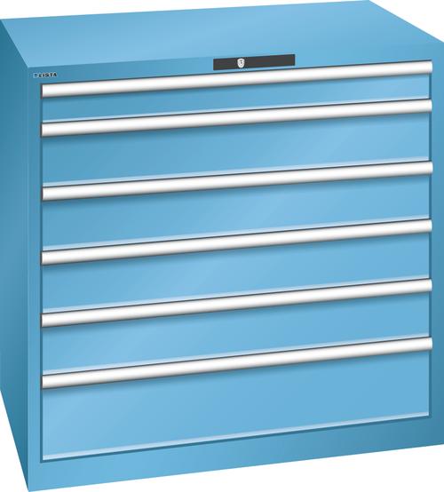 Drawer cabinet  (WxDxH) 1023x725x1000mm 6 drawers (1x100/4x150/1x200) 75kg