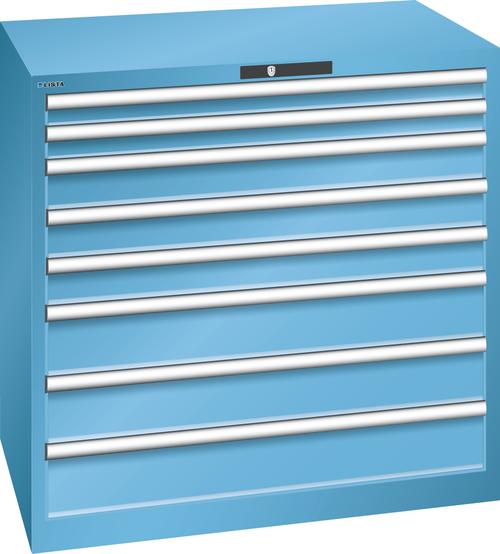 Drawer cabinet  (WxDxH) 1023x725x1000mm 8 drawers (2x75/3x100/3x150) 75kg