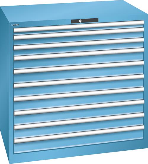 Drawer cabinet  (WxDxH) 1023x725x1000mm 10 drawers (1x50/2x75/7x100) 75kg