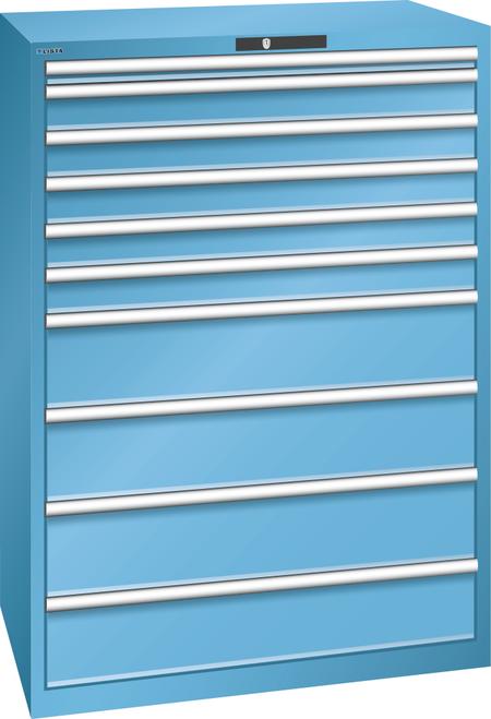 Drawer cabinet  (WxDxH) 1023x725x1450mm 10 drawers (1x50/5x100/4x200) 75kg