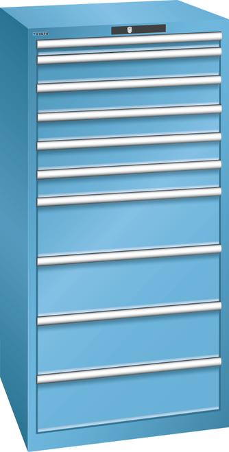 Drawer cabinet  (WxDxH) 717x725x1450mm 10 drawers (1x50/5x100/4x200) 75kg