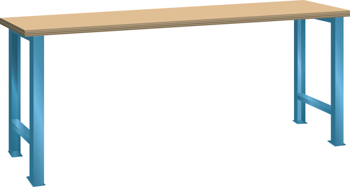 Workbench (WxDxH) 1500x750x840mm Multiplex