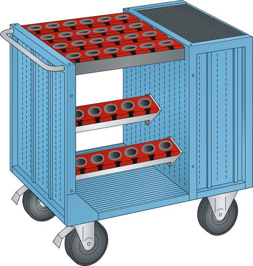 NC transport unit  (WxDxH) 1080x692x975mm 36 holders HSK 63 A+C+E/80 B+D+F