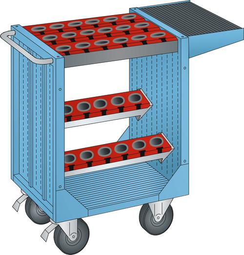 NC transport unit (WxDxH) 1077x514x927mm 30 holders HSK 63 A+C+E/80 B+D+F