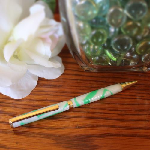 Slimline Pen - Shamrock Acrylic Barrel