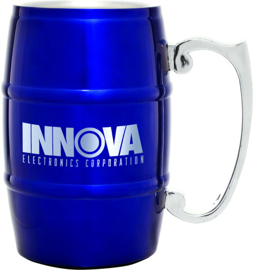 Stainless Steel 17 oz Barrel Mug - Blue
