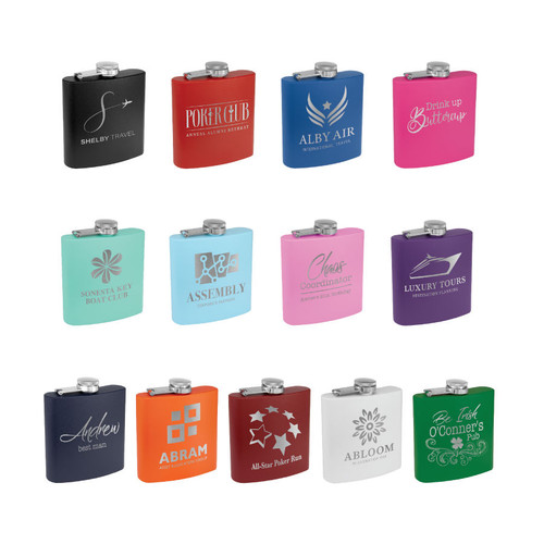 Matte Powder Coated Flasks