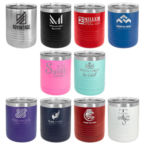 Selected colors of the 10 oz coffee tumbler