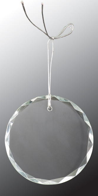 "3"" Crystal Faceted Round Ornament"
