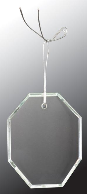 "3 1/2"" Crystal Octagon Ornament"