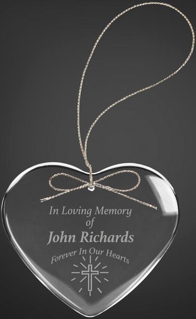 "2 1/2"" Crystal Heart Ornament"
