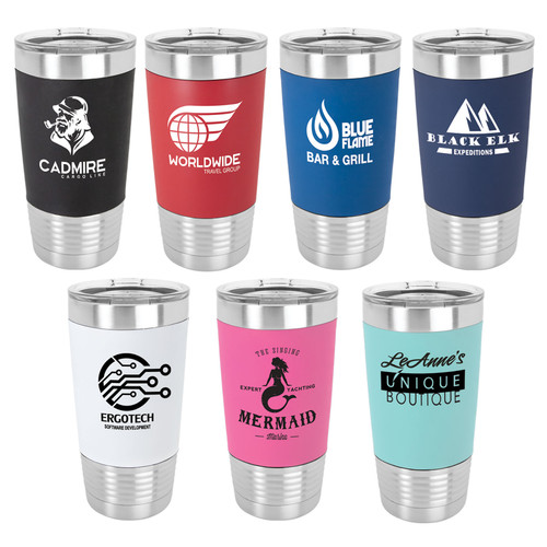 20oz silicone wrapped coffee tumblers