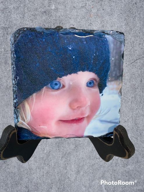 Slate with Family member photo sample