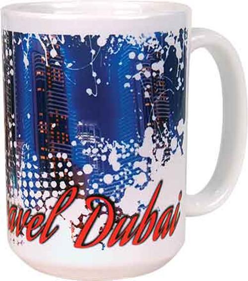 15 ounce white ceramic coffee mug with handle.  Sublimation