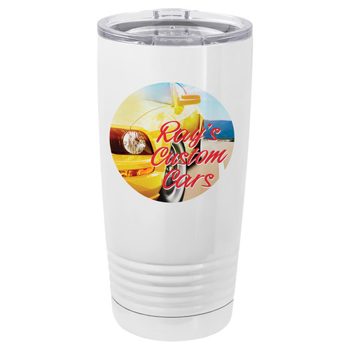 20 ounce coffee tumbler - sublimation - included clear lid