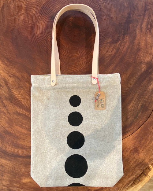 tote bag, polka dot, handmade, organic, black
