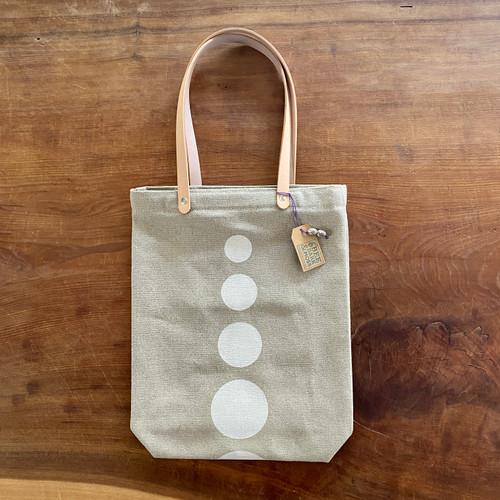 tote bag, polka dot, handmade, organic, white