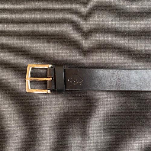 Hand stitched Leather Belt (Jet)