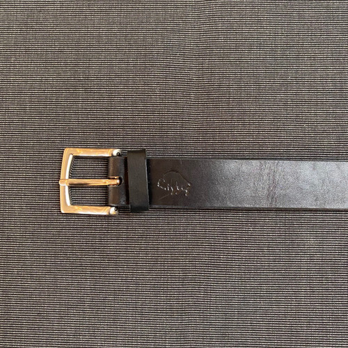 Hand stitched Leather Belt (Jet)