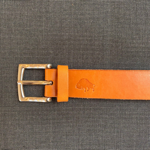 Hand stitched Leather Belt (Tan)