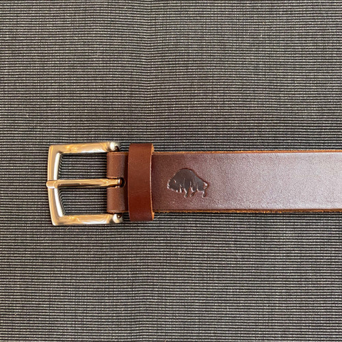 Hand stitched Leather Belt (Brown)