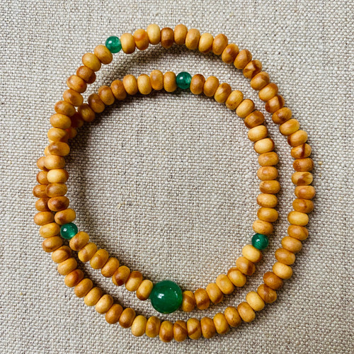 Pine and Aventurine 108 beaded bracelet