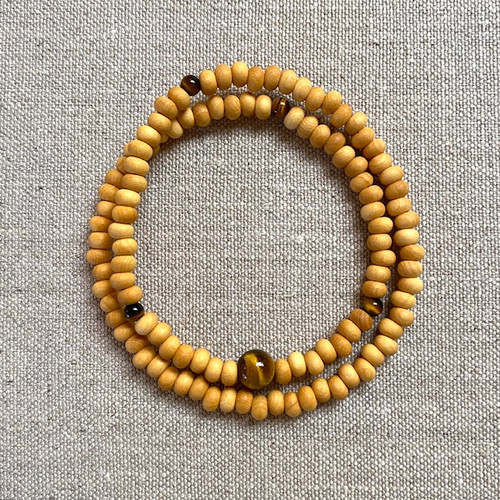 108 Buddhist Bracelet with Tiger's eye