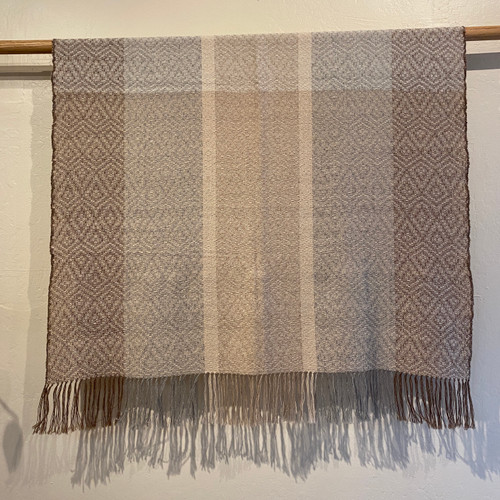 Baby Alpaca Throw Honeycomb