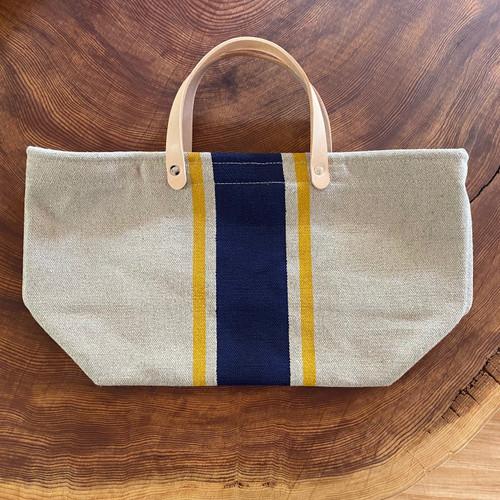 Hemp Market Bag Shorty Navy/Orange