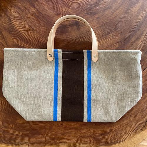 Hemp Market Bag Shorty Brown/Lt.Blue