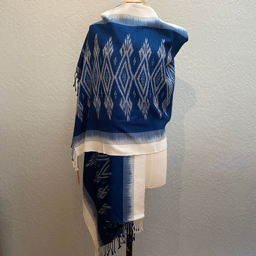 Ikat Cotton Shawl