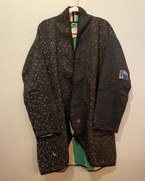 Antique Kantha Cocoon Coat