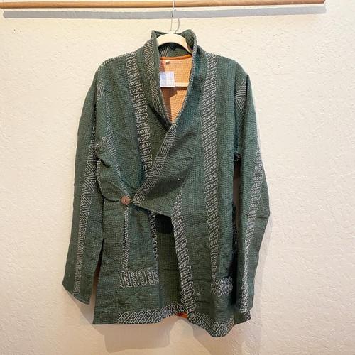 Antique Kantha Kimono Jacket L