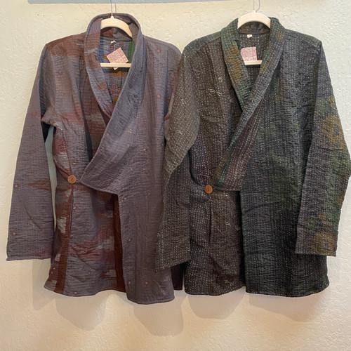 Antique Kantha Kimono Jacket M