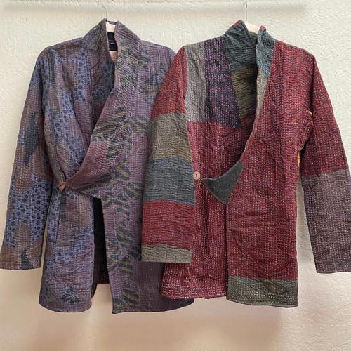 Antique Kantha Kimono Jacket S