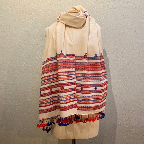 Organic Cotton Embroidered Stole
