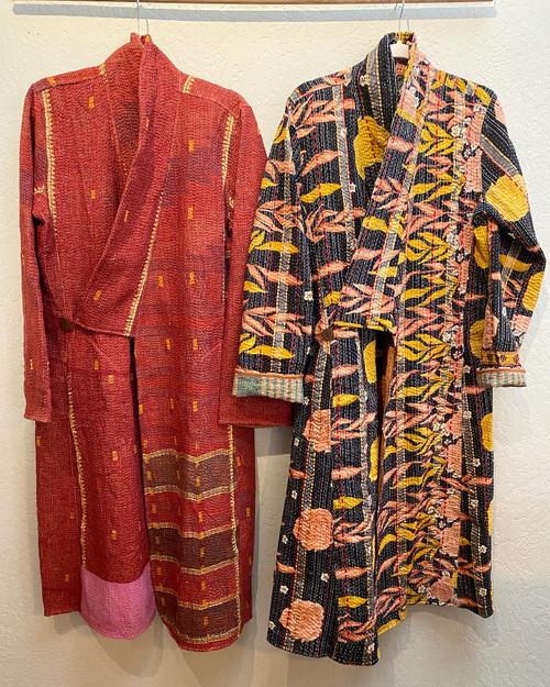 Antique Kantha Kimono Coat M
