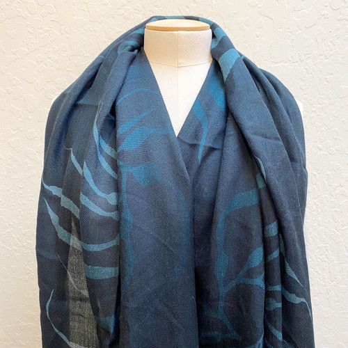 Cashmere/Wool Kelp Wrap