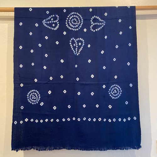 Merino Wool Tie Dye Throw Navy