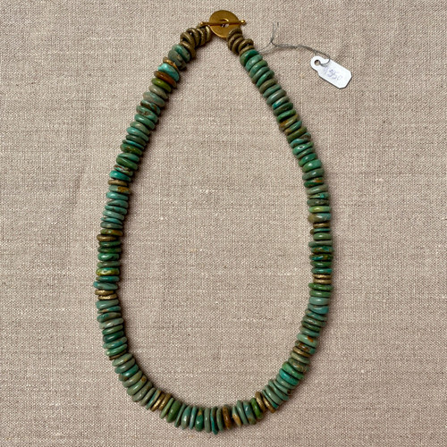 Turquoise w/ Brass Necklace
