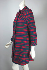 Red blue striped lightweight 1960s jacket coat mod style XS-S 34-36 bust