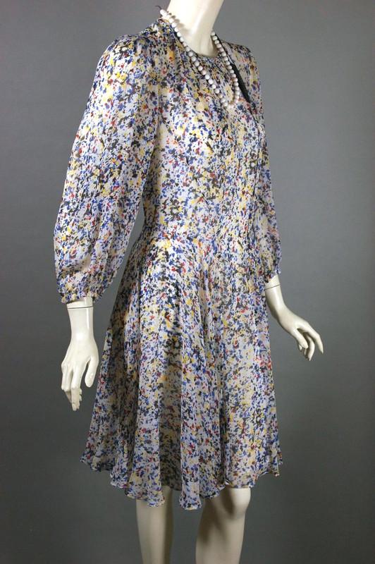 Designer Derek Lam dress white chiffon c 2000s deadstock unworn S-M