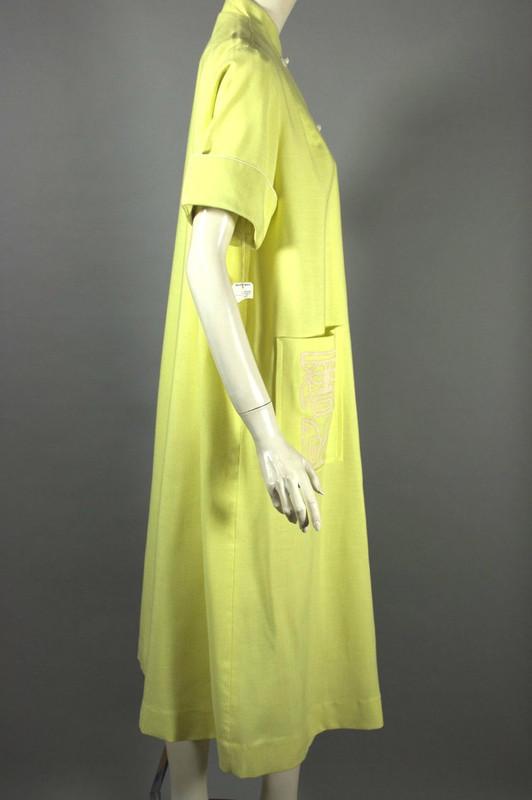 Hawaiian tiki screen printed 1960s robe or jacket yellow size M-L 40-42