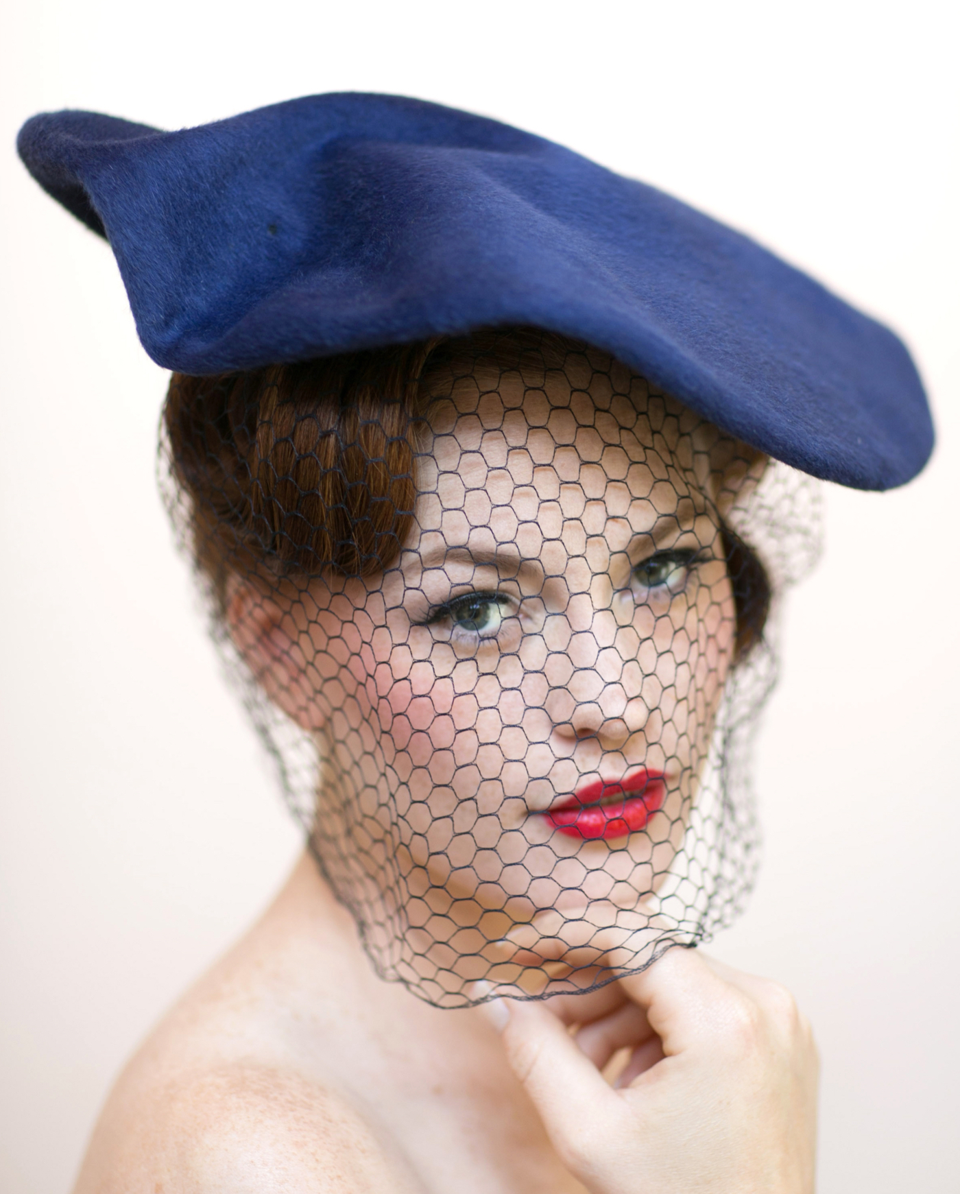 1940s vintage hat with veil photo by Elizabeth Sisson