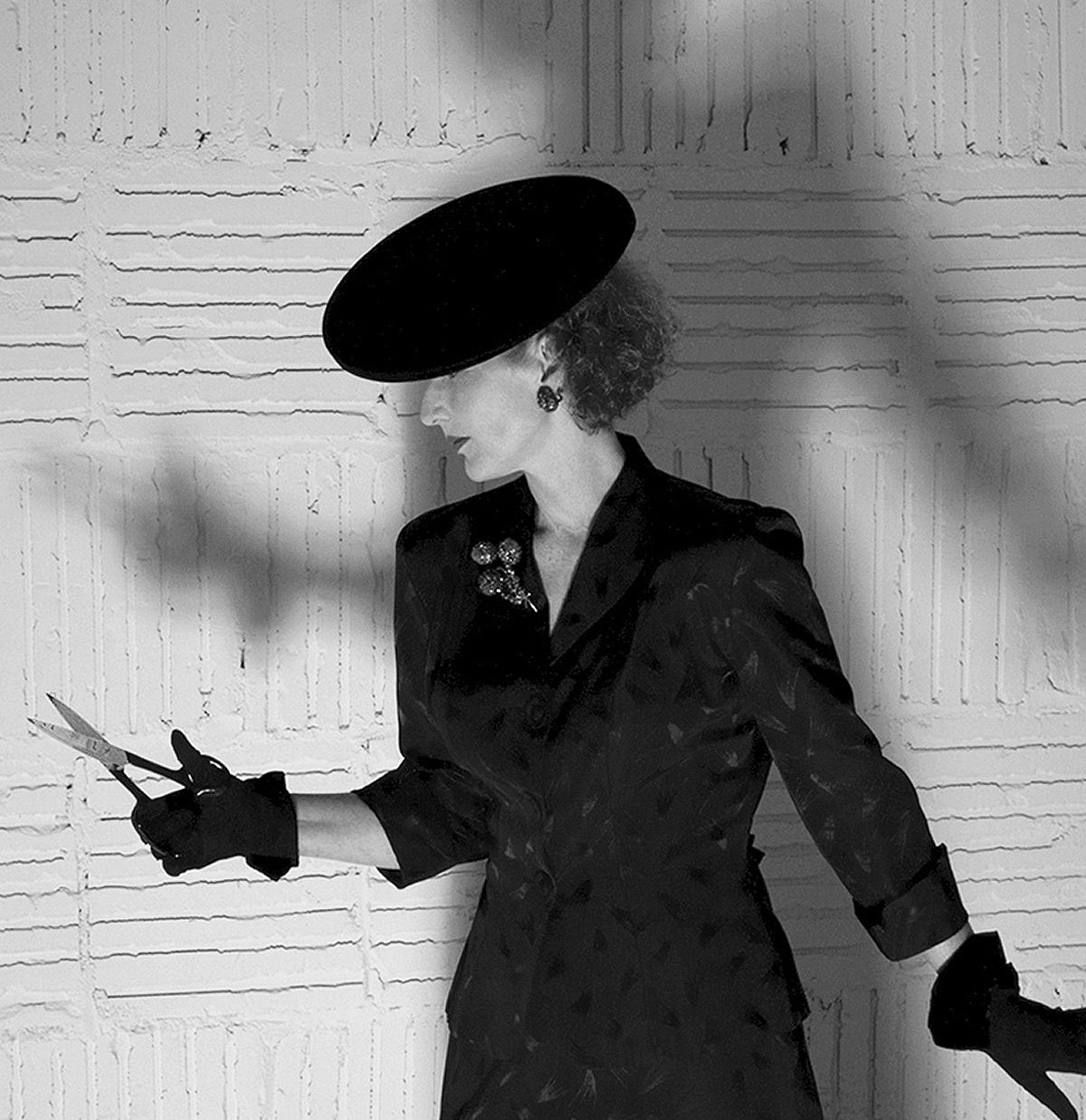 1940s noir femme fatale style vintage suits model Amy Mayberry