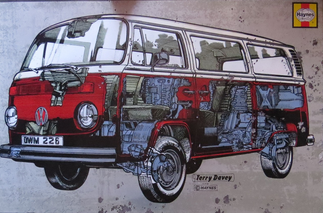 VW Camper Haynes Campervan-Volkswagen- Poster-Laminated available-90cm x 60cm-Brand New