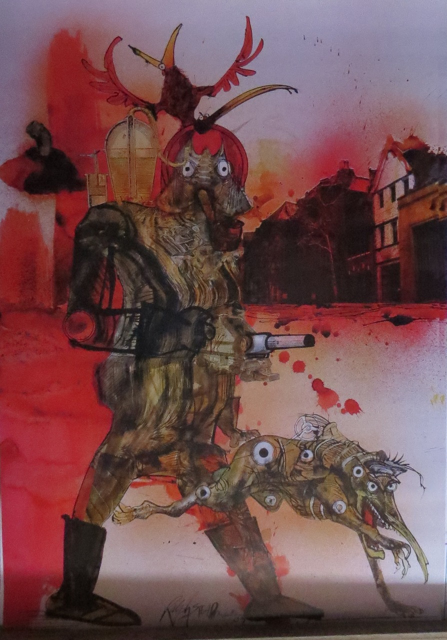 Ralph Steadman Fahrenheit - Poster-Laminated available-85cm x 55cm-Brand New