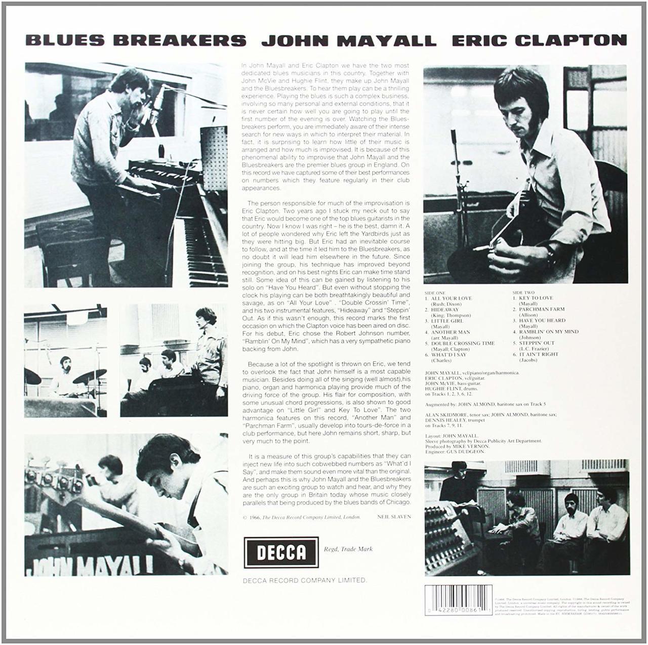 JOHN MAYALL & THE BLUESBREAKERS-Blues breakers-Double VINYL LP-Brand New-Still Sealed